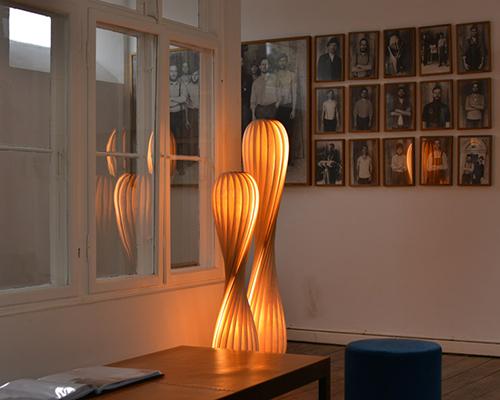 Holz und Hygge Möbel Jena Showroom Shop Tom Rossau TR7 Design Stehlampen modern Holzfurnier